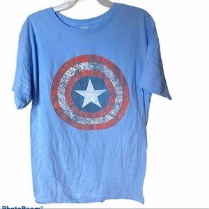 NWOT Marvel Captain America blue graphic tshirt